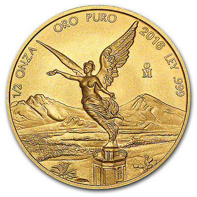 2016 Mexico 1/2 oz Gold Libertad BU - SKU #103084