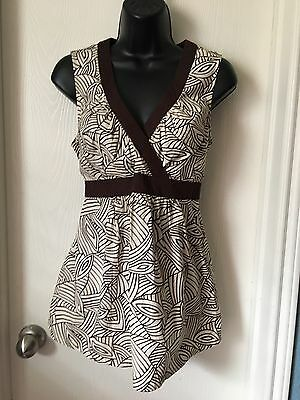 Motherhood Maternity Brown Sleeveless Top and Pants Outfit Size Small