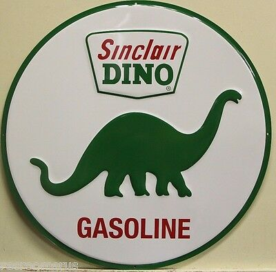 "SINCLAIR DINO Gasoline Metal Sign  large 24"" gas oil vintage style logo rd-25-24"
