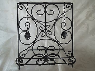 Longaberger~Wrought Iron Metalworks Cook Book Holder~French Country Decor~Bnib!