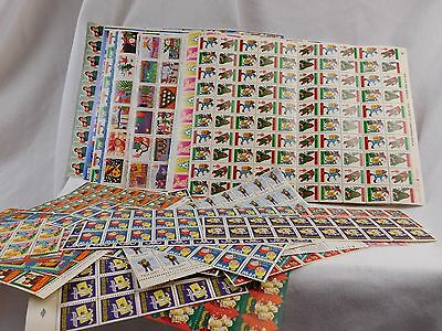 Lot of Vintage Unused Christmas Seals, Poster Stamps Sheets Blocks Easter Stamp