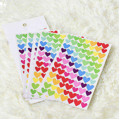 6 Pcs Colorful Rainbow Sticker Diary Planner Journal Scrapbook DIY Stationary