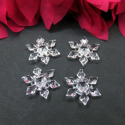 20x Christmas Snowflakes Ornaments Festival Xmas Party Tree Hanging Decoration