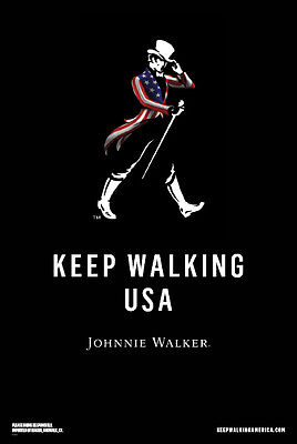 "Johnnie Walker   ""keep Walking Usa""  24 By 36 Poster"