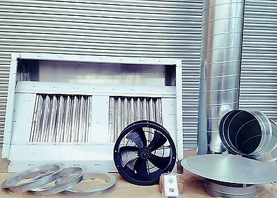 Commercial Kitchen Extractor Stainless Steel Canopy 5ft Complete Extraction kit