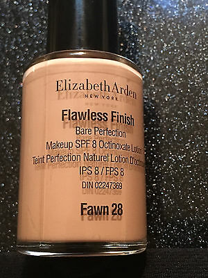 NEW Elizabeth Arden Flawless Finish Bare pefection Liquid Foundation Makeup SPF8