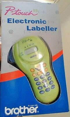 Brother P-touch PT-55G Green handheld Electronic Labeller suits M-K tapes 65B007