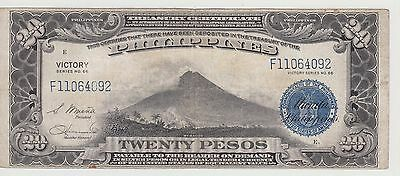 PHILIPPINES, 1944 (ND) 20 Pesos, VICTORY Series, P-98a, Fine+