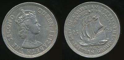 East Caribbean States, British Caribbean Territories, 1965 25 Cents - Very Fine
