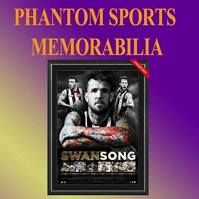 Collingwood Magpies Dane Swan Swansong Career Retirement Signed Print Framed