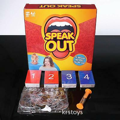Speak Out Game Props Family Friends Xmas Party Mouthpiece Board Challenge Game