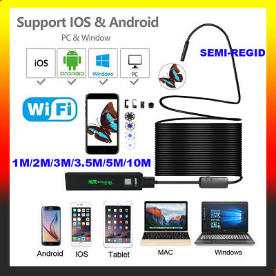 WiFi Endoskop Wasserdicht USB Endoscope Inspektion Kamera für iPhone Android PC
