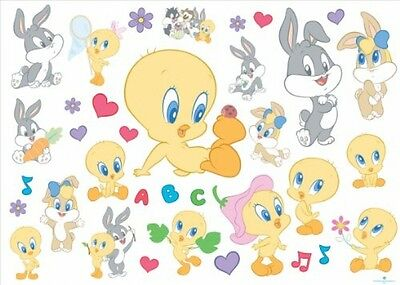 Joy Toy 000153 50 X 18 Cm Looney Tunes Baby Wall Decal Sticker Pack (35-Piece)