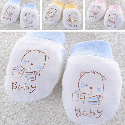 Baby Newborn Anti Scratch Cute Mittens Soft Cotton Breathable Unisex Warm Gloves