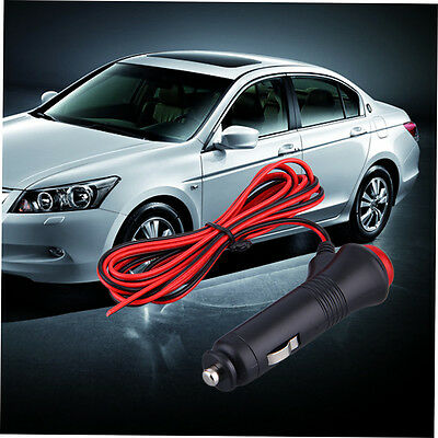 12V 24V Male Car Cigarette Lighter Socket Plug Connector On Off Switch 1.5m AX