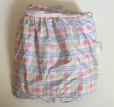 Laura Ashley Mother & Child 100% Cotton Crib Skirt Dust Ruffle Pink Green Blue