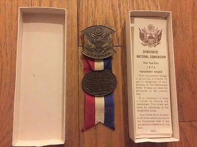 1976 Democratic National Convention Alternate Delegate Medal Badge Jimmy Carter