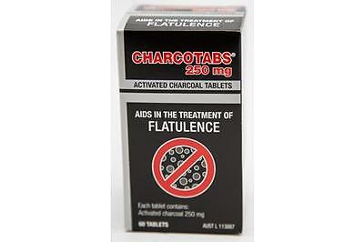 Charcotabs 250 mg 60 Tablets - Activated Charcoal Tablets