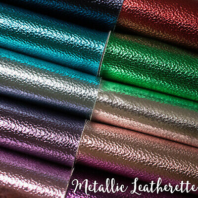 Metallic Leatherette Fabric - Faux Leather for Crafts and Bows A4