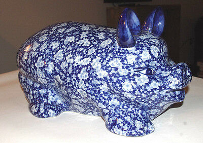 Beautiful Victoria Ware - Ironstone - Blue Pig - Large