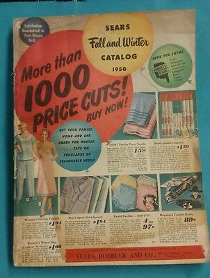 Vintage 1950 SEARS Fall and Winter Sale Catalog 478 Pages Good Condition