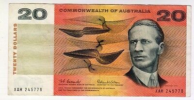 1966 Commonwealth of Australia Coombs/Wilson $20 Banknote