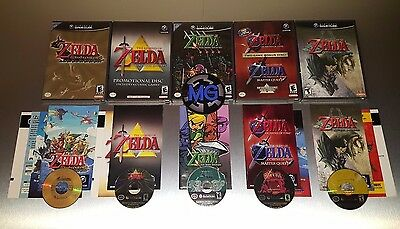The Legend of Zelda: Complete Nintendo Gamecube 5 Game Lot ☆☆ Fully Tested ☆☆