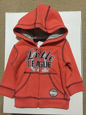 FREE POST NWT Baby Boys Sz 3-6 Months Sz 00 JACKET Fleecy New
