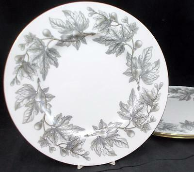 Wedgwood ASHFORD GREY 3 Dinner Plates Bone China W4106 GOOD CONDITION