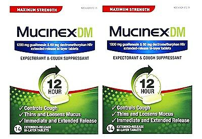 Mucinex DM, EXTRA STRENGTH 12-Hour Expectorant & cough Suppresent, 28 Tablet
