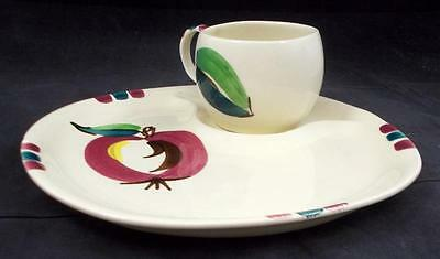 Purinton APPLE Snack Plate & Cup Set GREAT CONDITION