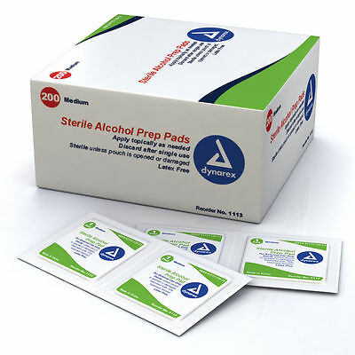 Boxes ALCOHOL PREP PADS SWABS WIPES BRAND NEW! MEDIUM #1113 / LARGE #1116