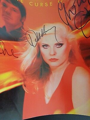 CURSE OF BLONDIE Autographed PROMO Poster DEBBIE HARRY + 3 Punk 2003 New Wave
