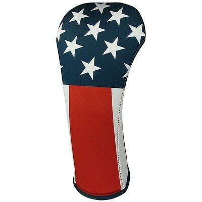 AMERICAN FLAG FAIRWAY Golf Club Head Cover Cover Easy ON & Off USA MADE
