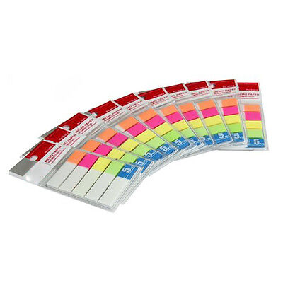 10 Note Paper Memo Pad Notepad Sticker Bookmark Post-it Stationery ZH