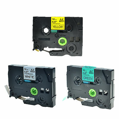 3PK TZe TZ 231 631 731 Label Tape Cassette For Brother P-Touch Printer 12mm 1/2""