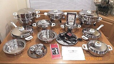 23 pc HEALTH CRAFT Waterless Cookware 5 Ply T304 Nicromium Surgical Stainless