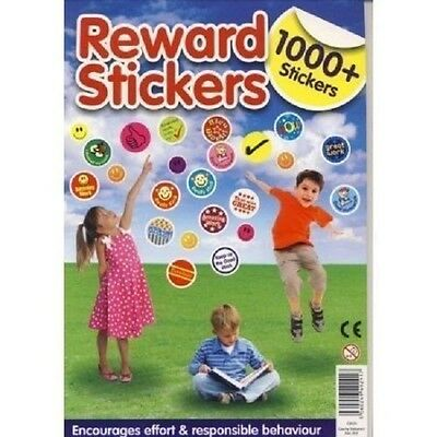 Childrens 1000+ Reward Smiley Face Well Done Stickers County Cb535