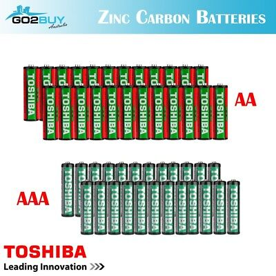 GENUINE TOSHIBA Zinc Carbon AA|AAA Battery Super Long Lift Batteries
