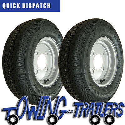 "2 x 145R10C commercial trailer wheel and tyre for Ifor williams 4 stud 5.5"" PCD"
