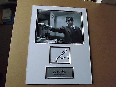 Al Pacino 'The Godfather-Scarface' signed montage - COA