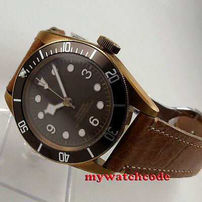 41mm corgeut sterile dial bronze PVD Sapphire Glass miyota automatic mens Watch