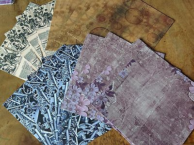 """Lelli-Bot Crafts ~ Steampunk ~ 6"""" x 6"""" Paper Pack x 16 sheets"""