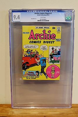 Archie Comics Digest #1  Cgc 9.4 - White *1St Archie Digest Ever* Neal Adams Art