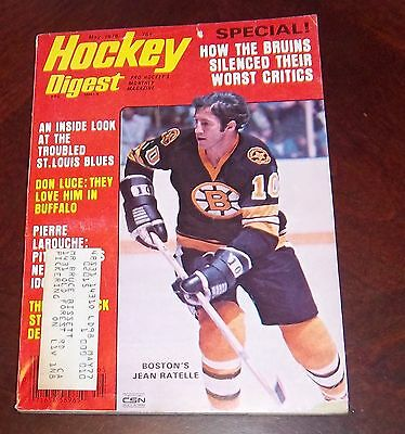 Hockey Digest May 1976 Jean Ratelle shipping label