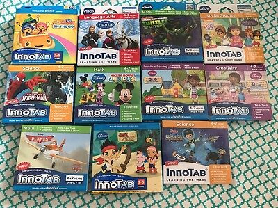 Lot of 5 Games Vtech InnoTab - Brand New - Sealed - (Check Description)