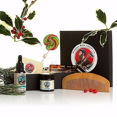 Beard Oil & Beard Balm Gift Set, includes Free Comb!