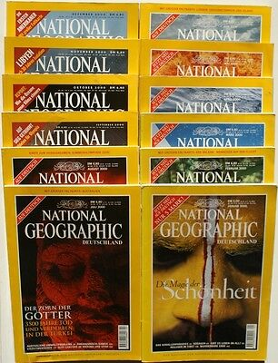 National Geographic Jahrgang 2000 ( 1 2 3 4 5 6 7 8 9 10 11 12 ) in Z1 bis Z2