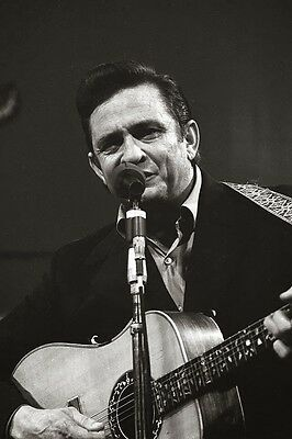 Johnny Cash At San Quentin Glossy Poster Music Photo Print Picture A4