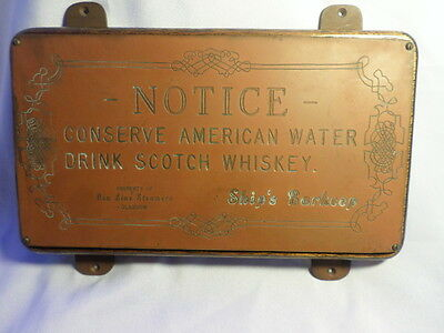 Antique Ships Barkeep Brass Plaque Ben Line Steamers Glasgow Scotland Rare